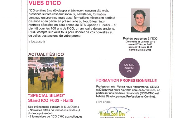 ICO Newsletter VUES D'ICO