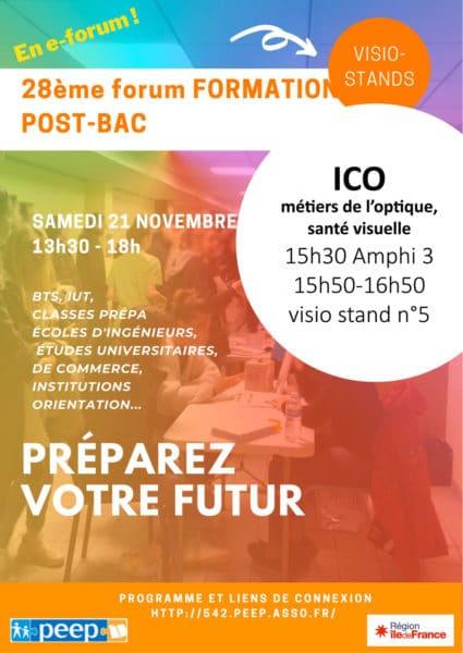 ICO école optique un oeil sur ton avenir, forum formations post bac