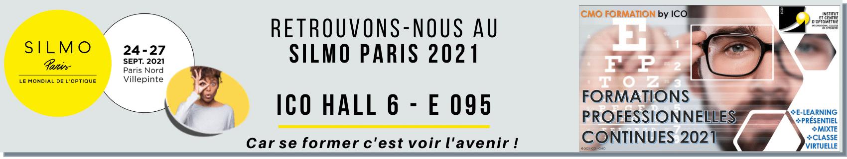 ICO école optique sera au SIlmo Paris 2021 pour vous présenter ses offres de formations professionnelles