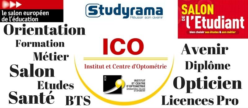 ICO métier opticien salon étudiant optique lunetterie optométrie