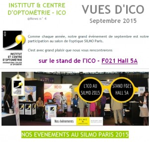 VUES ICO Newsletter septembre special silmo