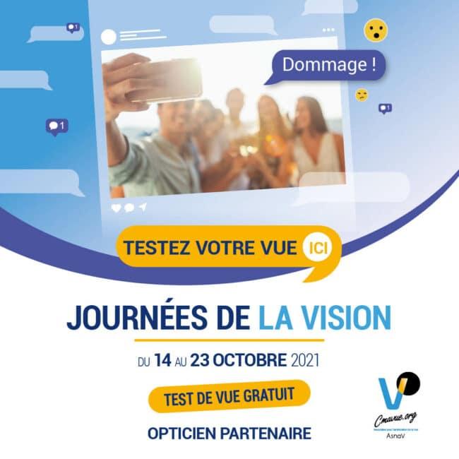 Journées de la vision à l'ICO, les BTS Opticien-lunetier sensibilisent à la malvoyance