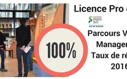 licence pro optique vente management 100% taux réussite 2016