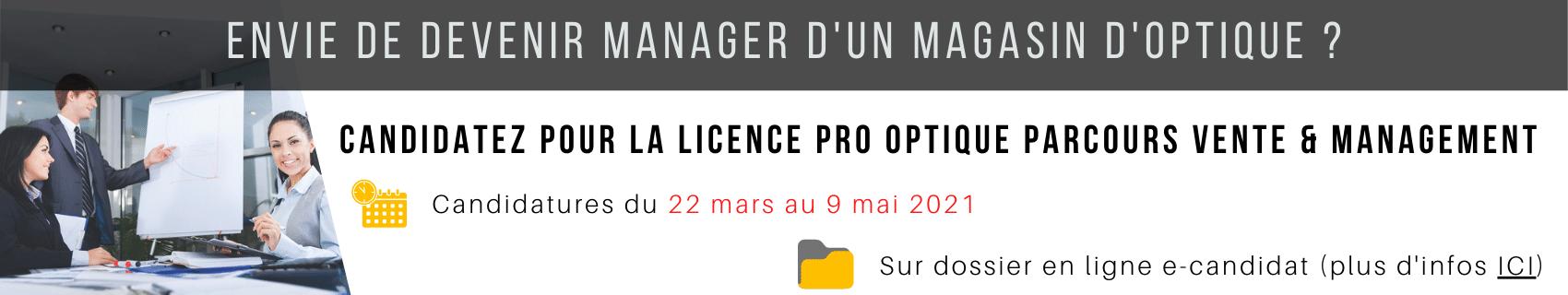 Licence pro optique vente et management ICO