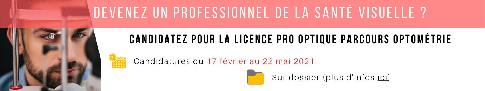 Licence pro optométrie ICO