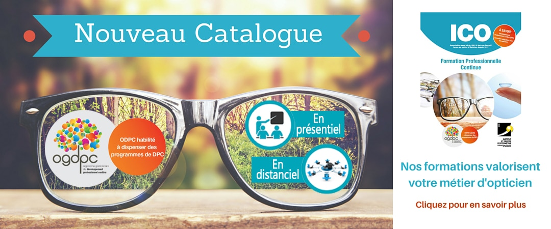 Nouveau catalogue ico formation professionnelle opticien