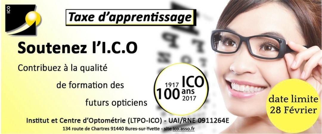 versez votre TA à l'ICO ecole opticien optometrie