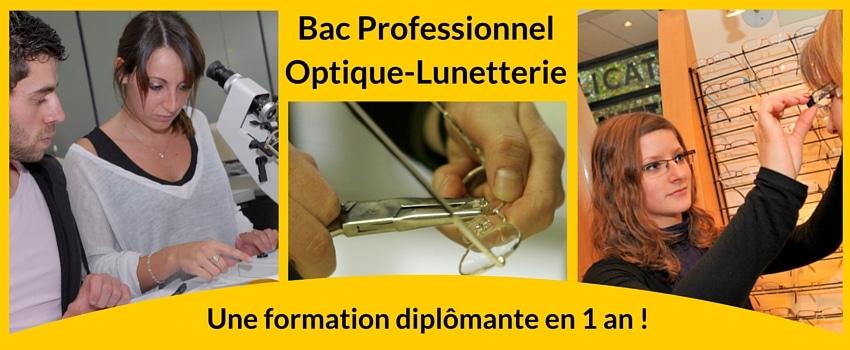bac pro optique lunetterie formation opticien