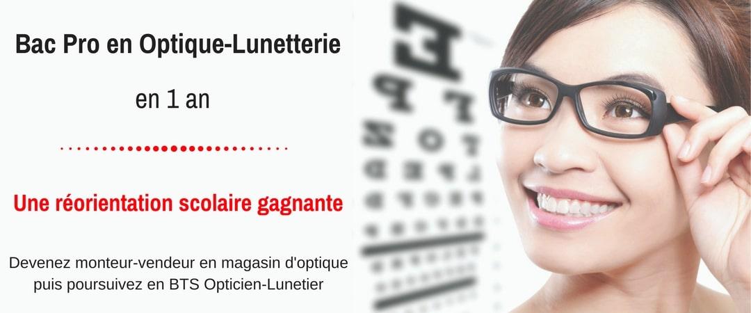 bac pro optique monteur vendeur opticien