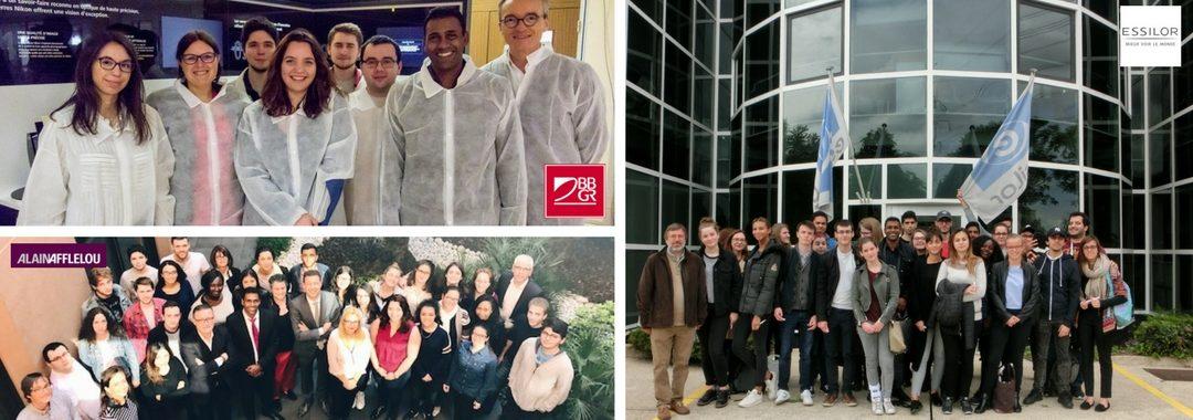 Entrepreneuriat : Le parrain de la promo bts ol 2018 a accompagné les étudiants visiter les entreprise française du monde de l'optique