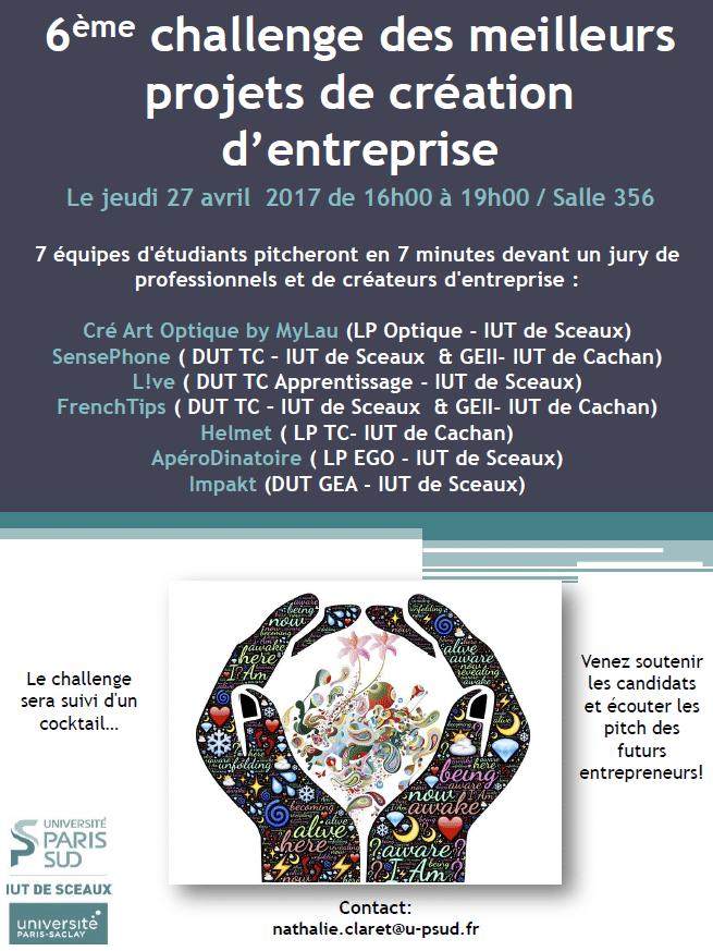 Deux élèves sur le podium du challenge de création d'entreprise organisé par l'université Paris Sud