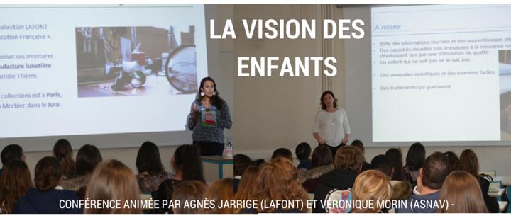 vision des enfants conference ICO pour les etudiants BTSOL opticiens