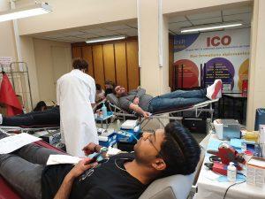 Session don du sang au sein de l'Institut et Centre d'Optométrie