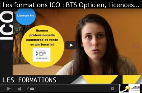 formations à l'ICO BTS Opticien Lunetier Licences pro optique