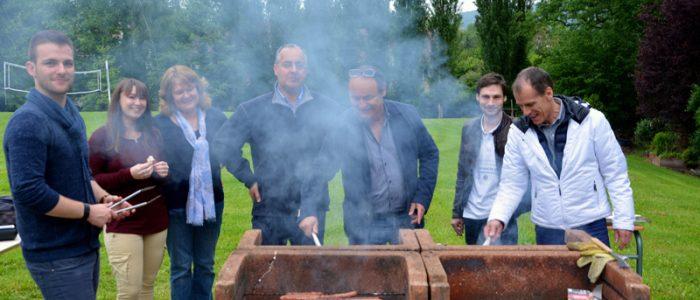 le BDE organise un barbecue pour la fin de l'année