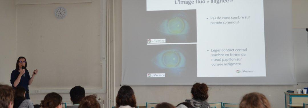 l'I.C.O a organisé une conférence sur la contactologie