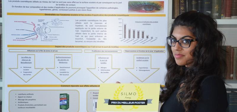 Nayara recoit le prix du meilleur poster silmo academy