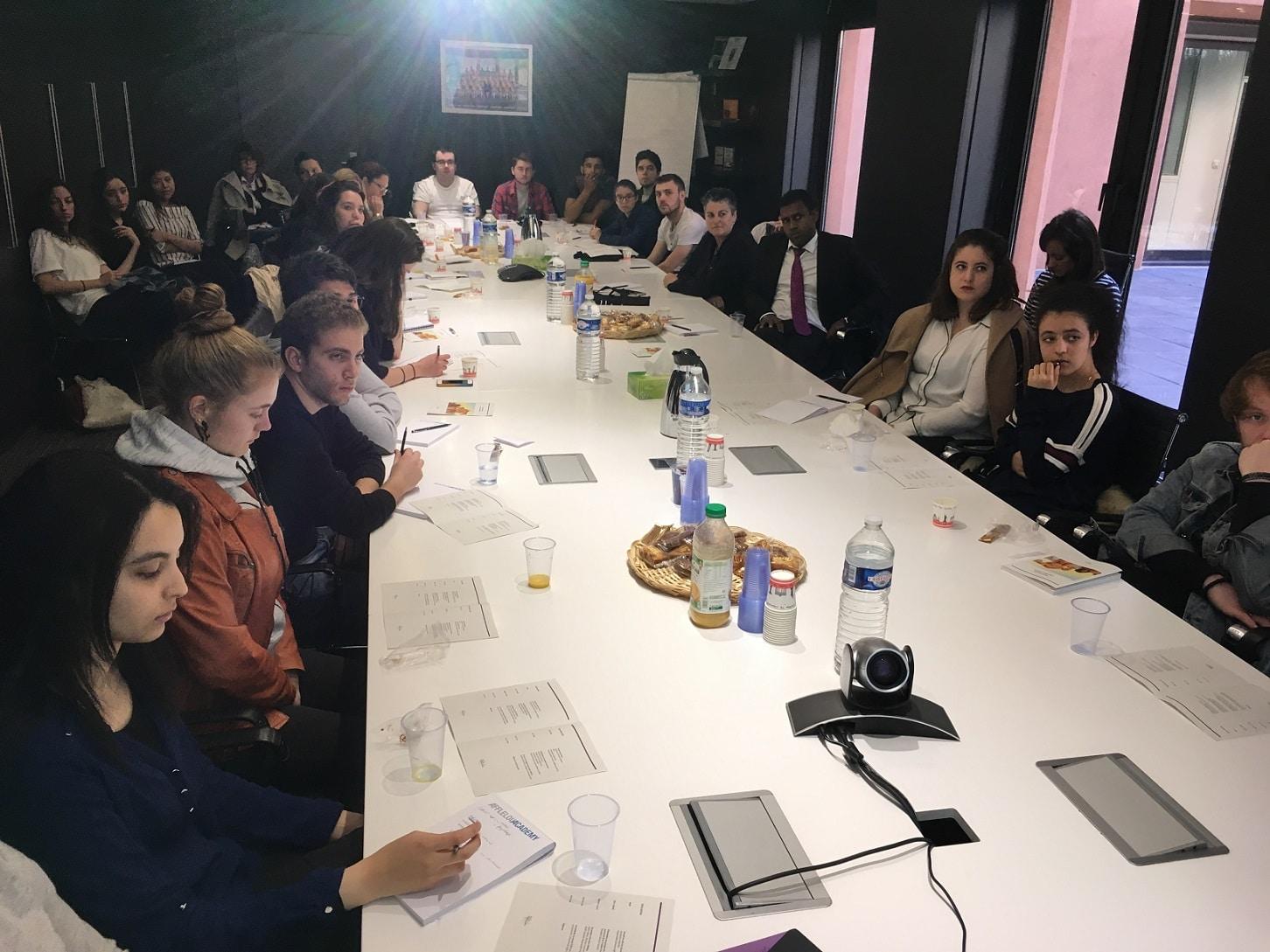 Les étudiants de bts ol première année ont visité une grande enseigne de l'optique : le groupe Afflelou