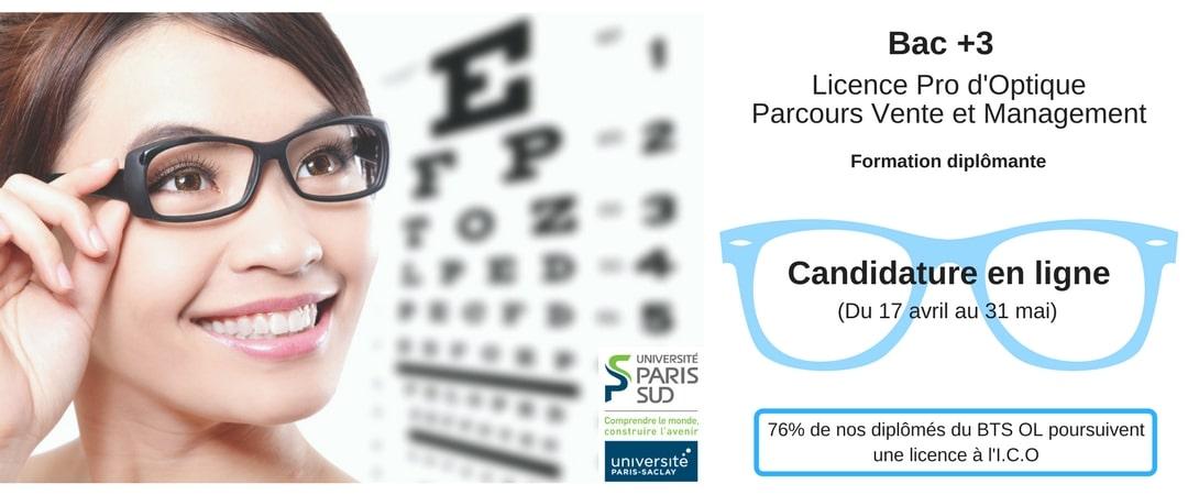 licence pro d'optique vente et management à l'ico école centenaire en optique lunetterie