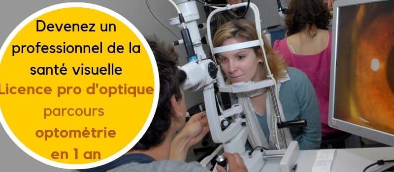 licence optométrie ouverture des candidatures