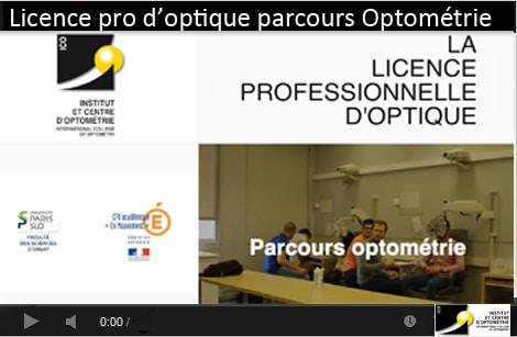 licence pro optique parcours optométrie