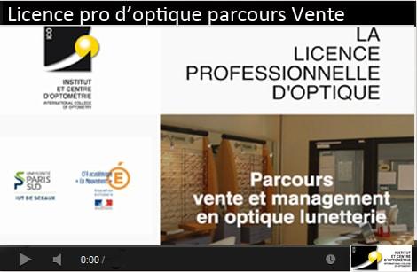 licence pro optique parcours vente management en optique lunetterie