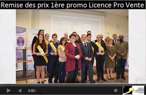ceremonie remise des prix premiere promo licence pro optique parcours vente management optique lunetterie